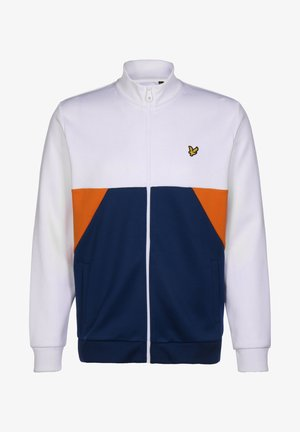 GEO PANEL - Zip-up hoodie - white / indigo
