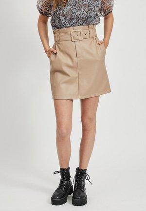 Mini skirt - simply taupe