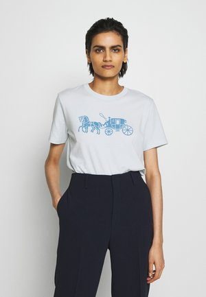 HORSE AND CARRIAGE - T-shirts med print - baby blue