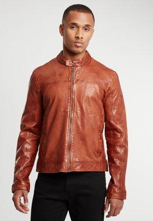 RYKER LABUV - Leather jacket - cognac