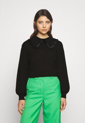 OBJFULTON - Stickad tröja - black