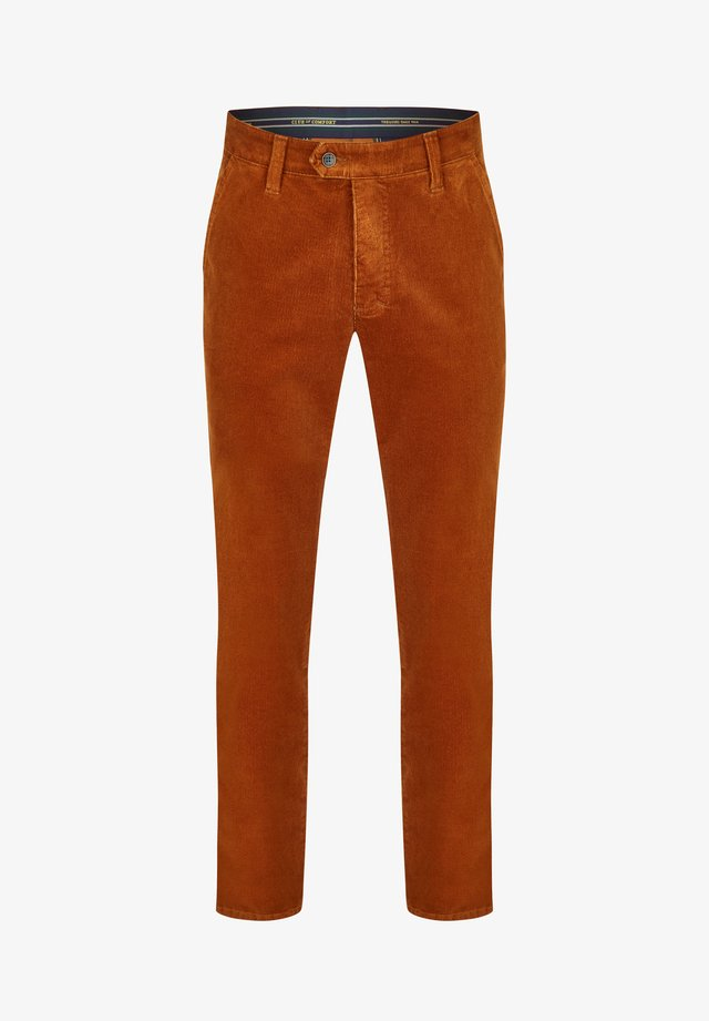 GARVEY - Trousers - cognac