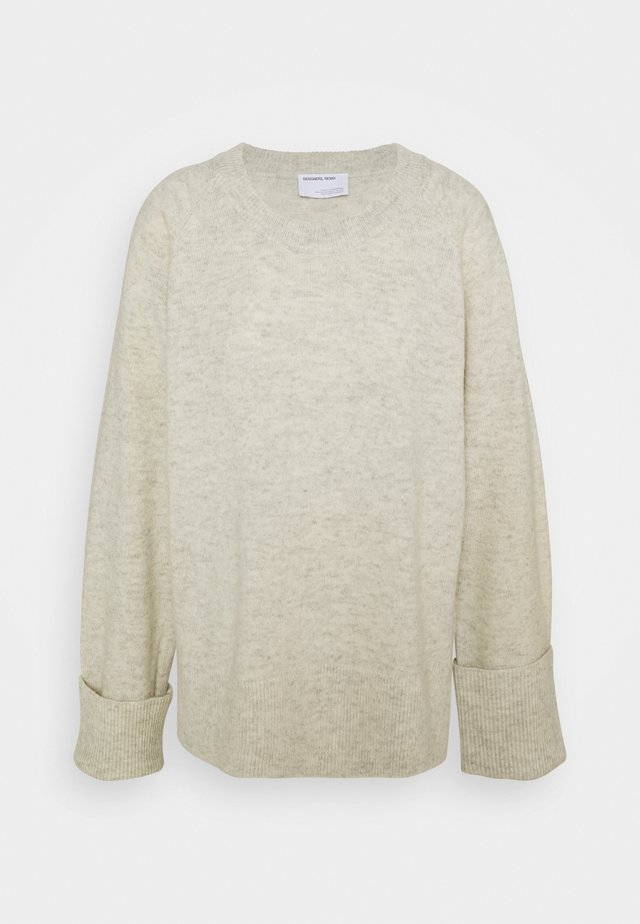 SILVIA SLIT - Jumper - light grey melange
