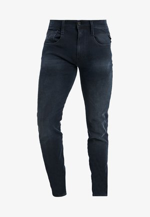 HYPERFLEX + ANBASS - Slim fit jeans - blue/black denim