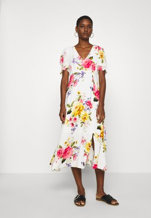 GEORGIA FLORAL TEA DRESS - Vestido informal - white