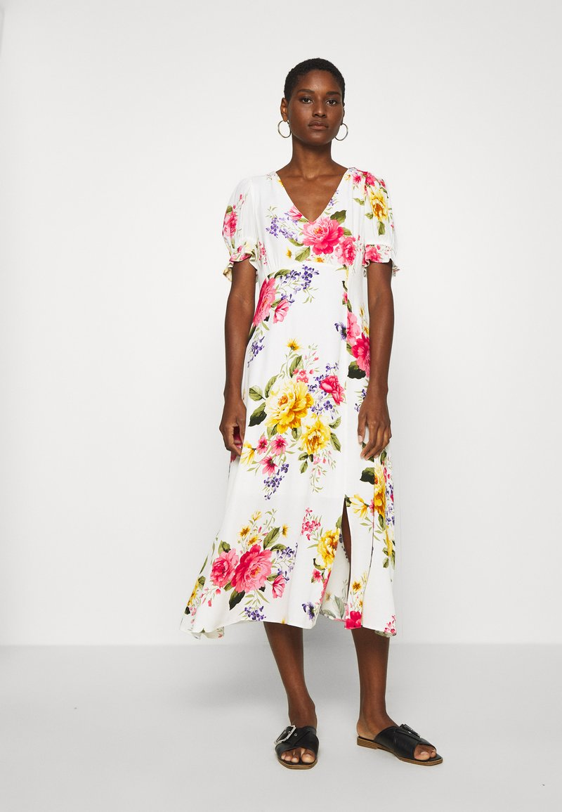 Dorothy Perkins - GEORGIA FLORAL TEA DRESS - Denní šaty - white