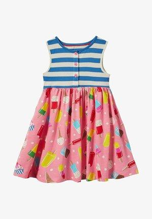 MUSTERMIX - Jersey dress - hellrosa, eiscreme/getupft