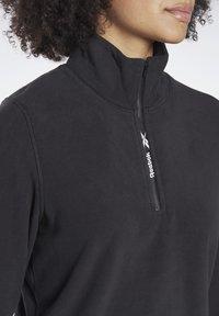 Reebok - OUTERWEAR QUARTER-ZIP TOP - Fleece jumper - black - 3