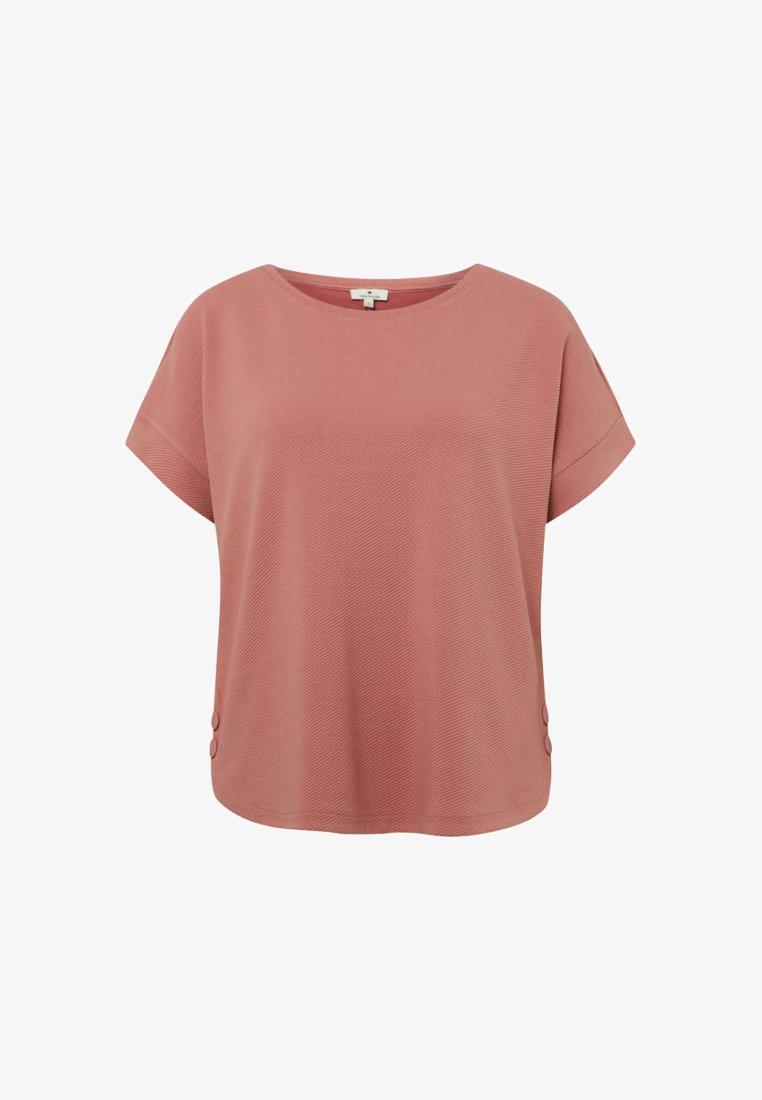 TOM TAILOR - STRICK & SWEATSHIRTS STRUKTURIERTES SWEATSHIRT - T-shirt basique - vintage rose