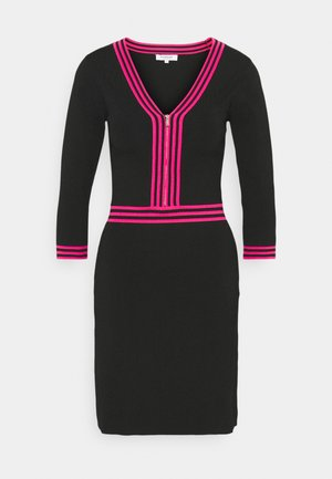 Pouzdrové šaty - noir/bonbon