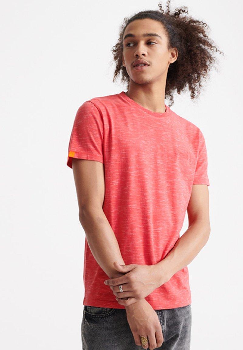 Superdry - VINTAGE CREW - T-shirt basic - maldive pink space dye