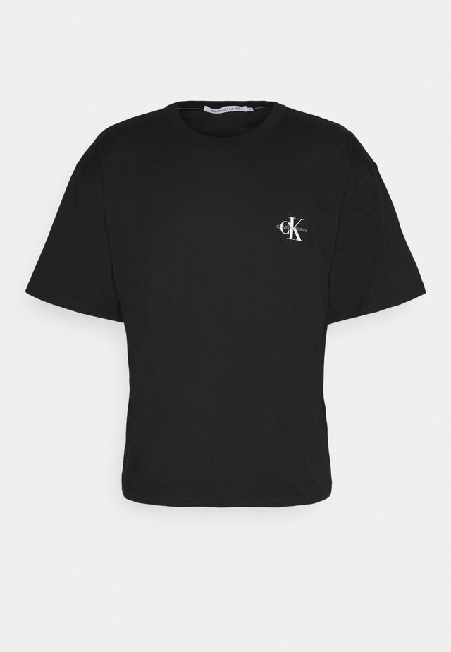 MONOGRAM MODERN TEE - Print T-shirt - ck black