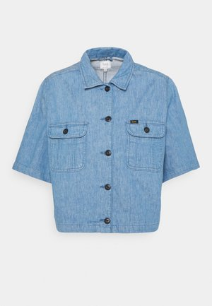 SHORTSLEEVE JACKET - Denim jacket - blue