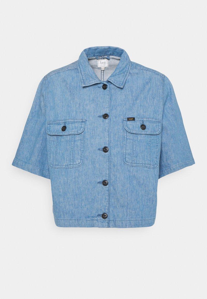 Lee - SHORTSLEEVE JACKET - Denim jacket - blue