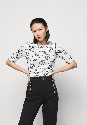 Long sleeved top - white/polo black