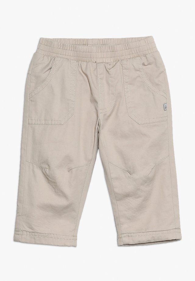 Trousers - beige melange