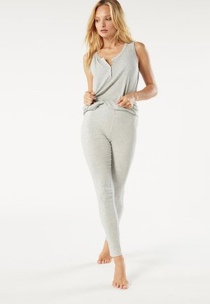 GERIPPTE LEGGINGS AUS MODALMIX - Leggings - Trousers - silver grey mel