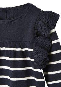 Vertbaudet - Jumper dress - nachtblau/weiß gestreift - 2