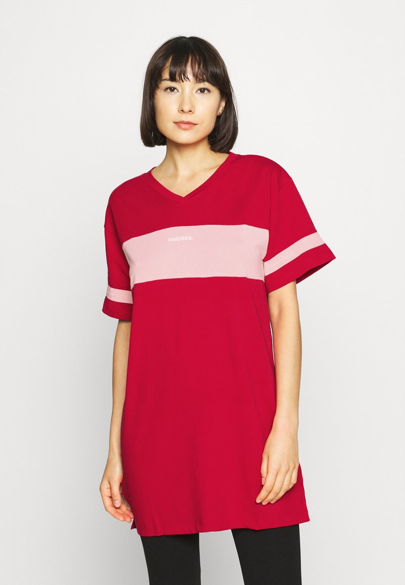 Diesel - UFTEE-CHEERLY T-SHIRT - Nightie - red/rosa