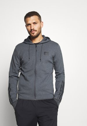 AEROREADY TRAINING SPORTS SLIM HOODED JACKET - Zip-up hoodie - dark grey/black