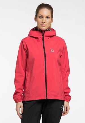 BUTEO JACKET - Hardshell jacket - hibiscus red