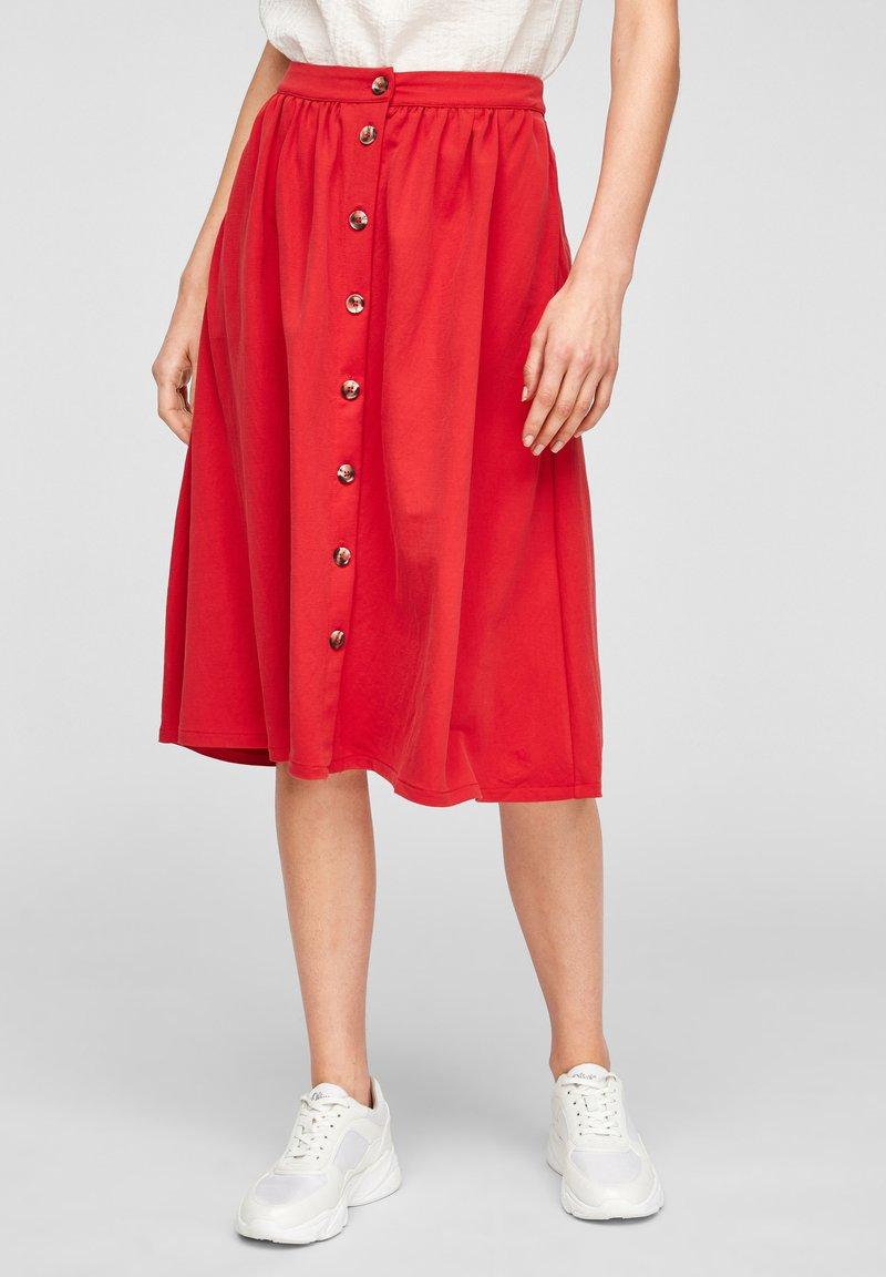 s.Oliver - Jupe trapèze - red