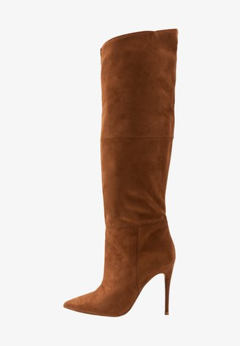 DAKOTA - High heeled boots - brown