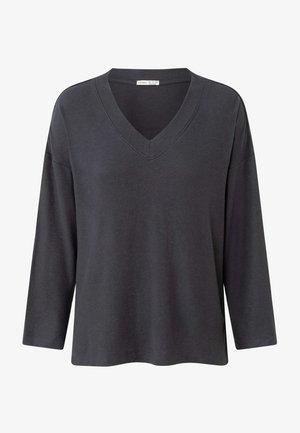 SOFT TOUCH LONG-SLEEVED   - Pyjama top - dark grey