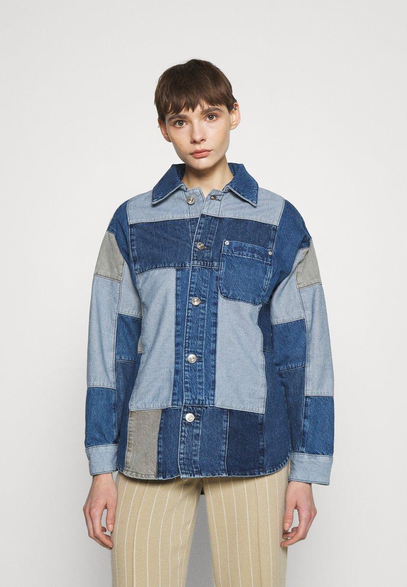 BDG Urban Outfitters - PATCHWORK OVERSHIRT - Halflange jas - denim