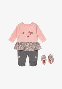 Staccato - SET - Leggings - Trousers - light pink/dark grey - 3