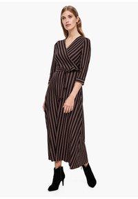 s.Oliver BLACK LABEL - Maxi dress - brown stripes - 1