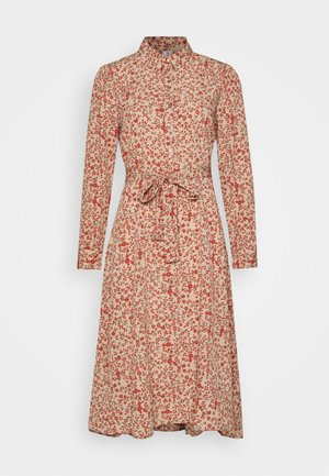 PCSAPRIL MIDI DRESS  - Korte jurk - natural/autumn flowers