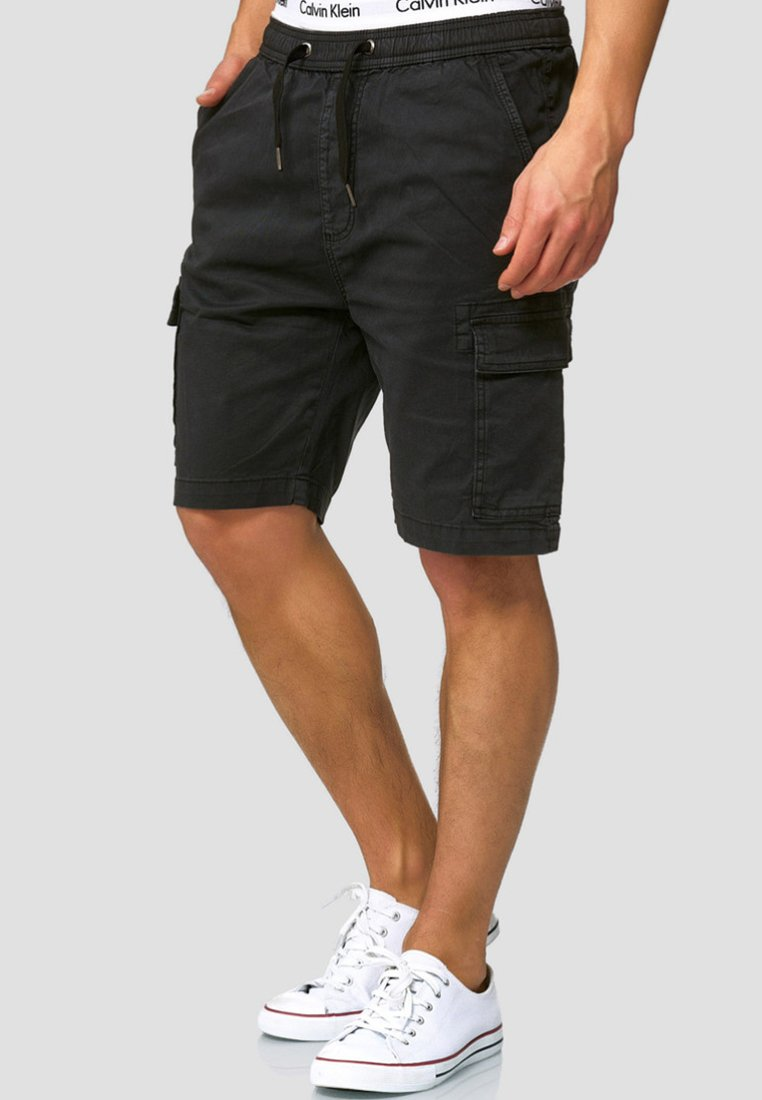 INDICODE JEANS - KINNAIRD - Shorts - black
