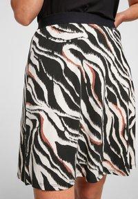 s.Oliver - A-line skirt - black zebra aop - 2