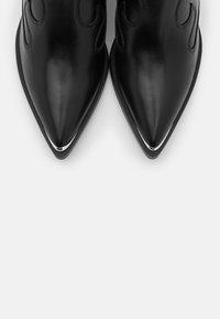 Unisa - MARCEL - Cowboy/biker ankle boot - black - 5