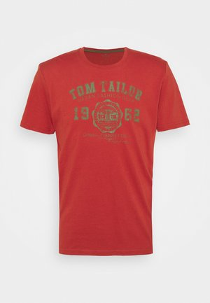 LOGO TEE - T-shirt med print - used red