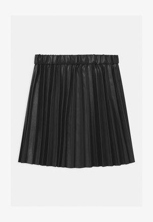 PLEATED - A-line skirt - black