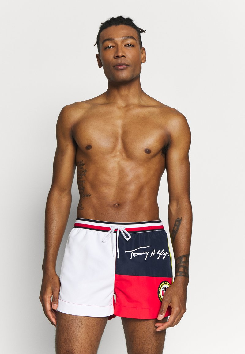 Tommy Hilfiger - DRAWSTRING - Swimming shorts - red