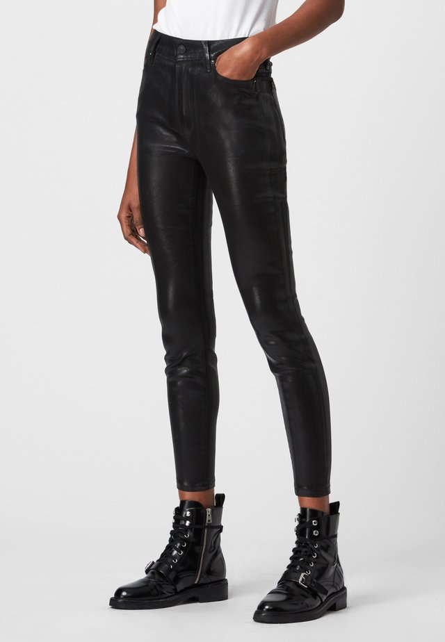 ALEX COATED - Jeansy Skinny Fit - black