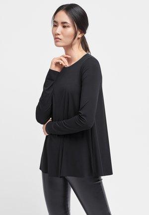 AURORA - Long sleeved top - black