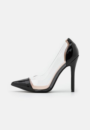 Klassiska pumps - clear/black