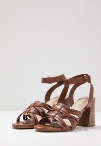 ALDO - HOLLANDSE - High heeled sandals - cognac - 4