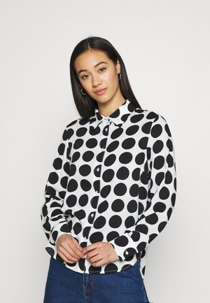HILMA - Button-down blouse - black/white