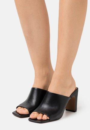 TEAAGAN - Heeled mules - black
