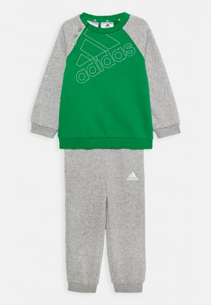 UNISEX - Tracksuit - green/white/medium grey heather