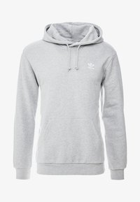 adidas Originals - ESSENTIAL HOODY UNISEX - Mikina s kapucí - medium grey heather