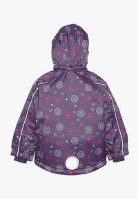 Minymo - SNOW JACKET OXFORD GIRL SHAPE - Zimní bunda - loganberry - 1