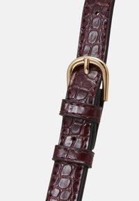 Lindex - BAG ELLA CROCO - Håndtasker - dusty red - 3