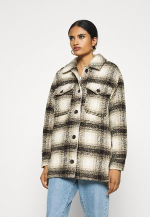 ONLALLISON CHECK SHACKET - Winter jacket - pumice stone/black