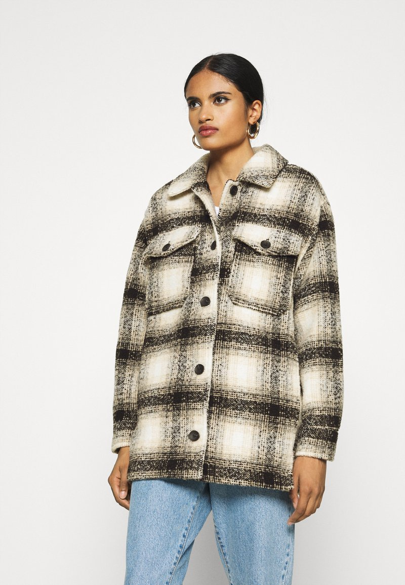ONLY - ONLALLISON CHECK SHACKET - Winter jacket - pumice stone/black